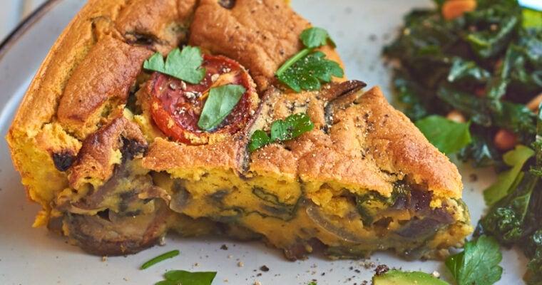 Healthy Eggless Vegan Breakfast Frittata