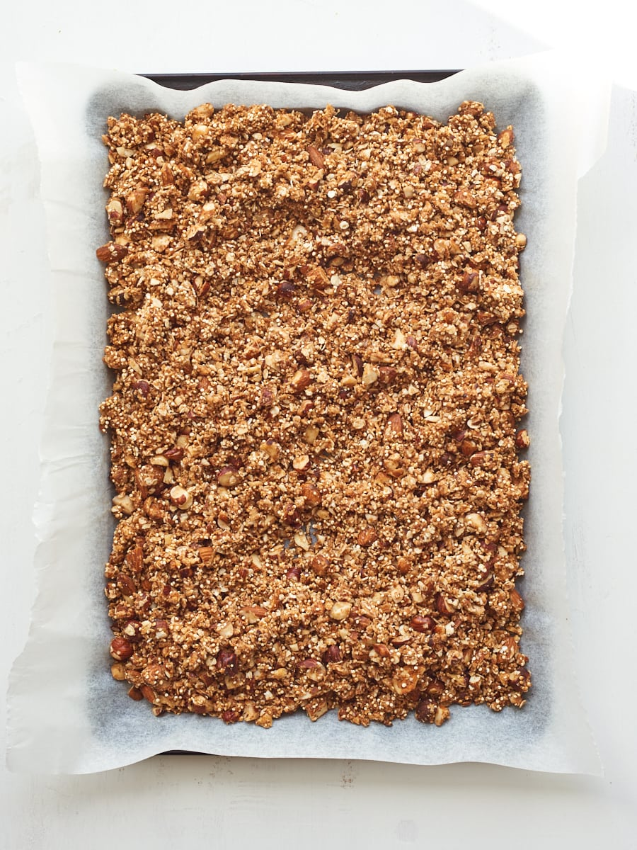raw granola ready for oven 2