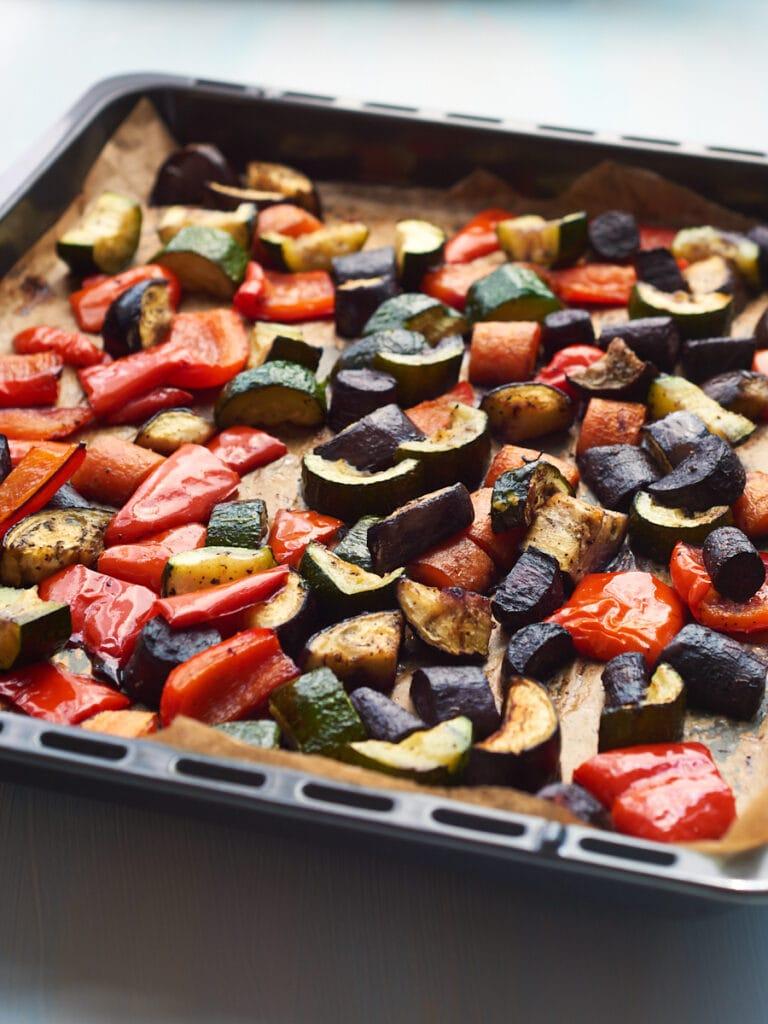 Roasted vegetables for Tagine