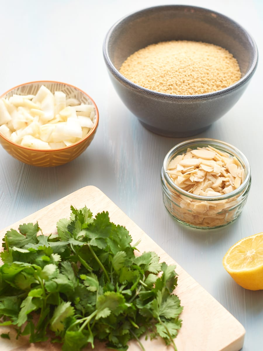 Almond and Coriander Couscous Ingredients