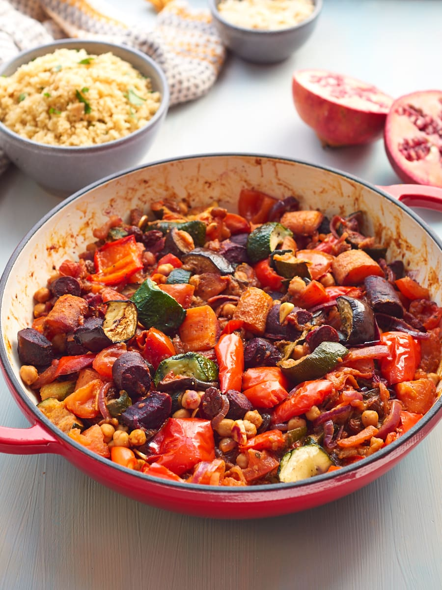 Moroccan tagine in pan