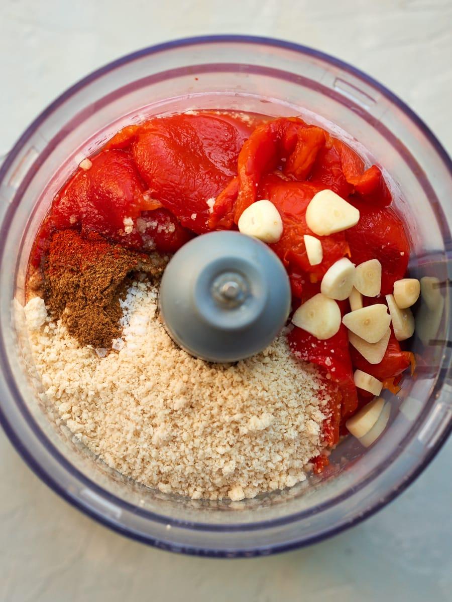 Roasted red pepper dip ingredients