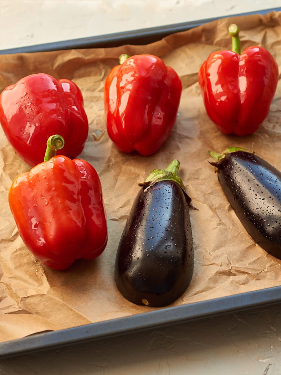 Roasted red pepper dip cooking