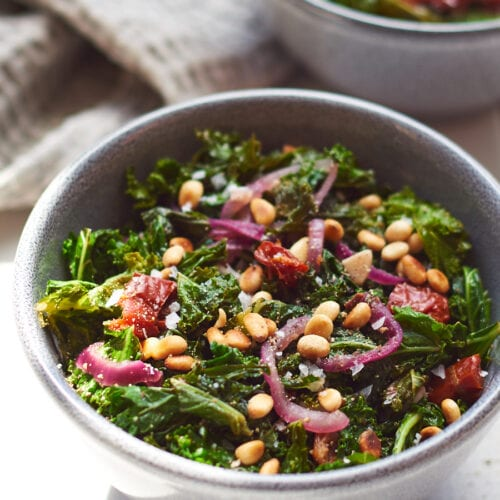 Sauteed Kale with Garlic and Pine Nuts