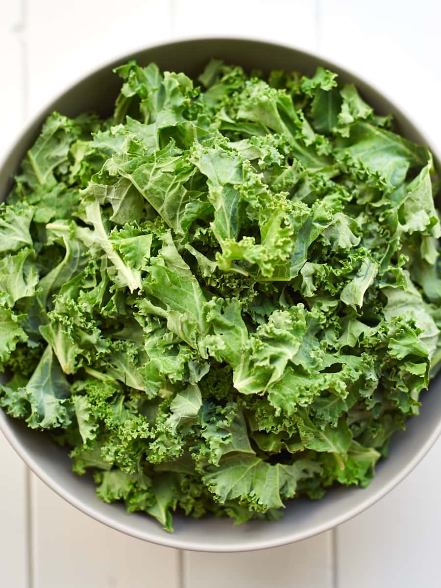 Fresh kale in a bowl