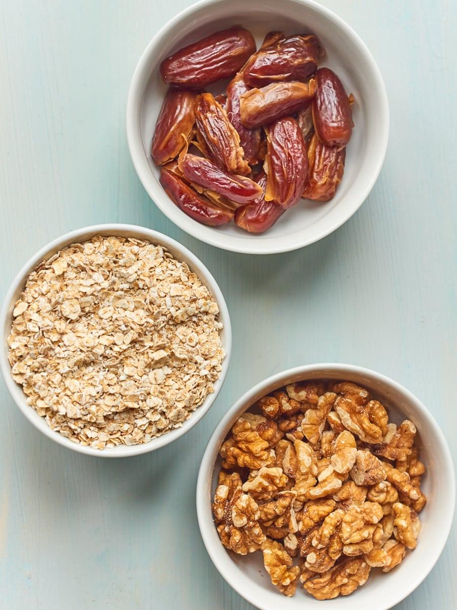 Ingredients for breakfast bowl