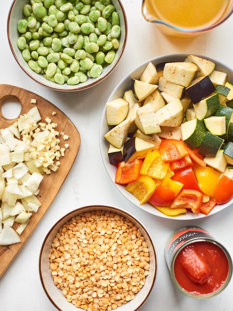 Ingredients for split pea soup 1