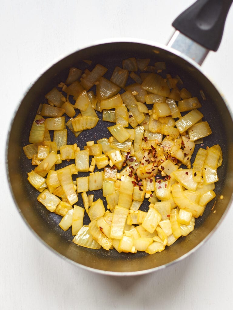 Onions cooking in pan 1