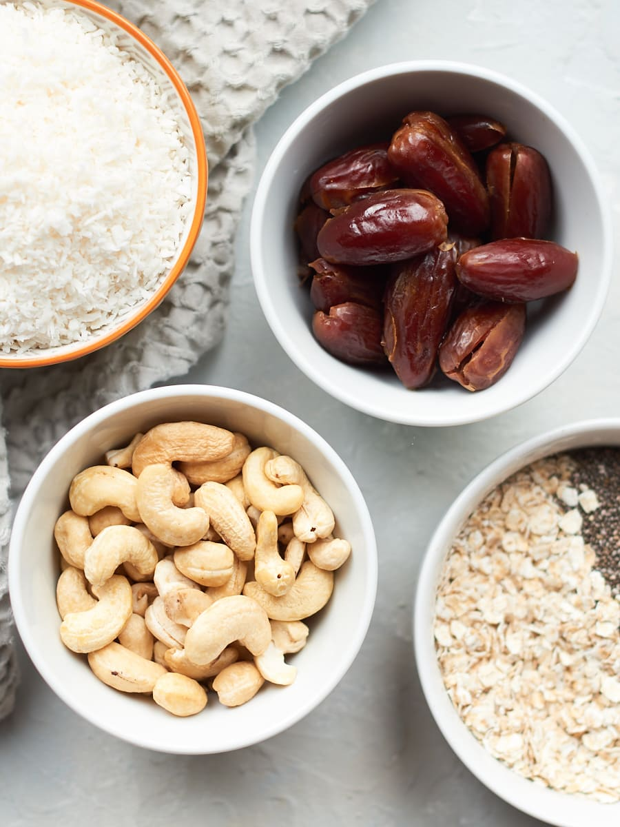 Ingredients for snack bars