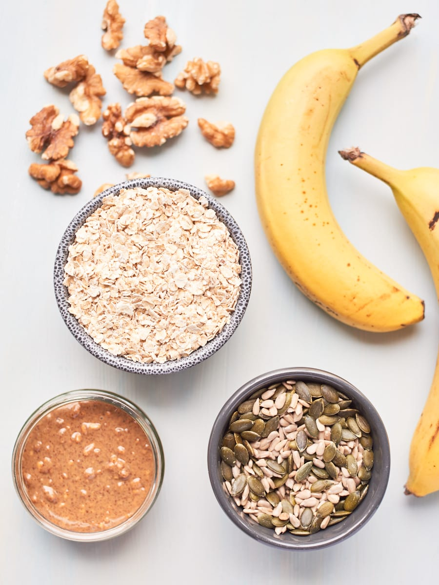 ingredients for breakfast bars