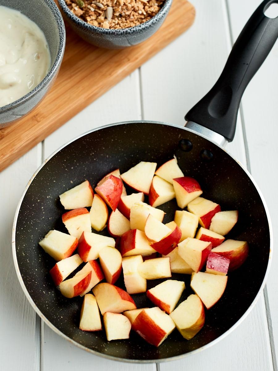 Ingredients for apple parfait