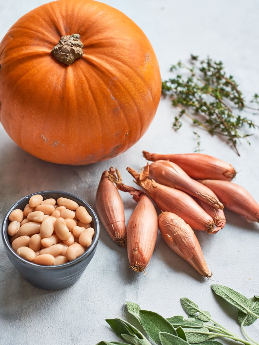 ingredients for vegan pumpkin casserole