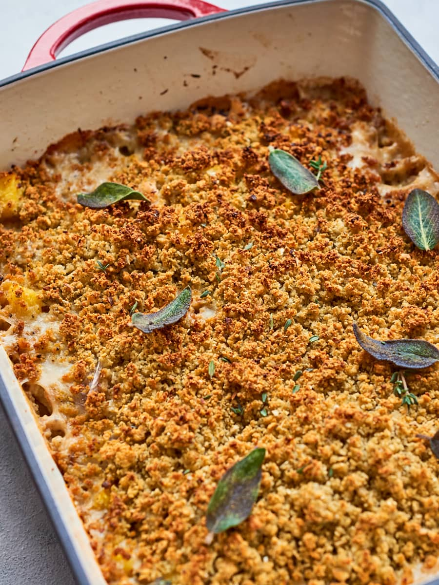 crispy topping on vega pumpkin casserole
