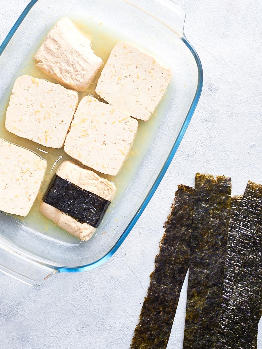 nori wrapped tofu