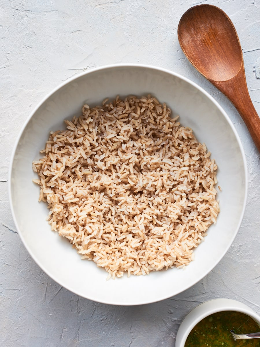 Bowl with brown rice