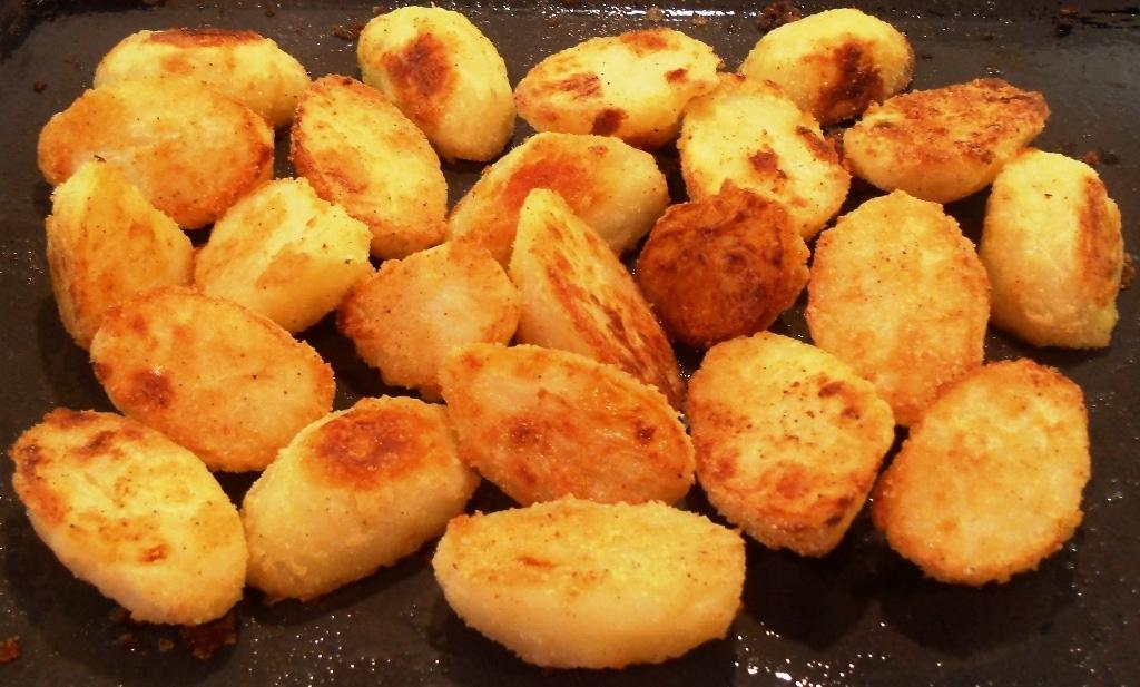 crispy coated roast potatoes