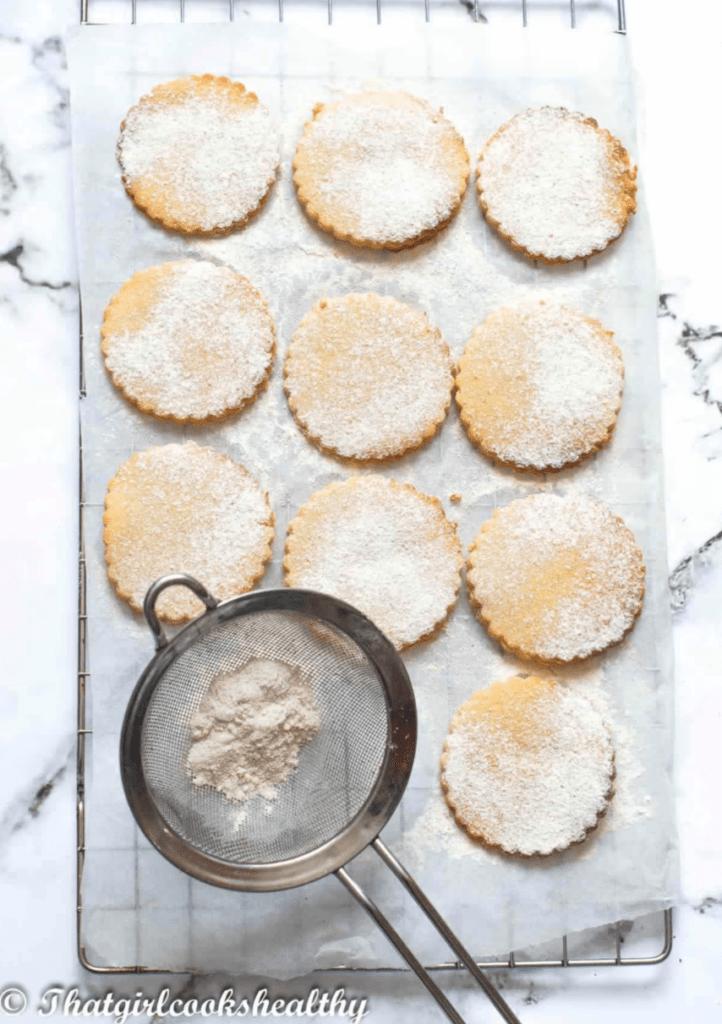 sugar cookies on rack