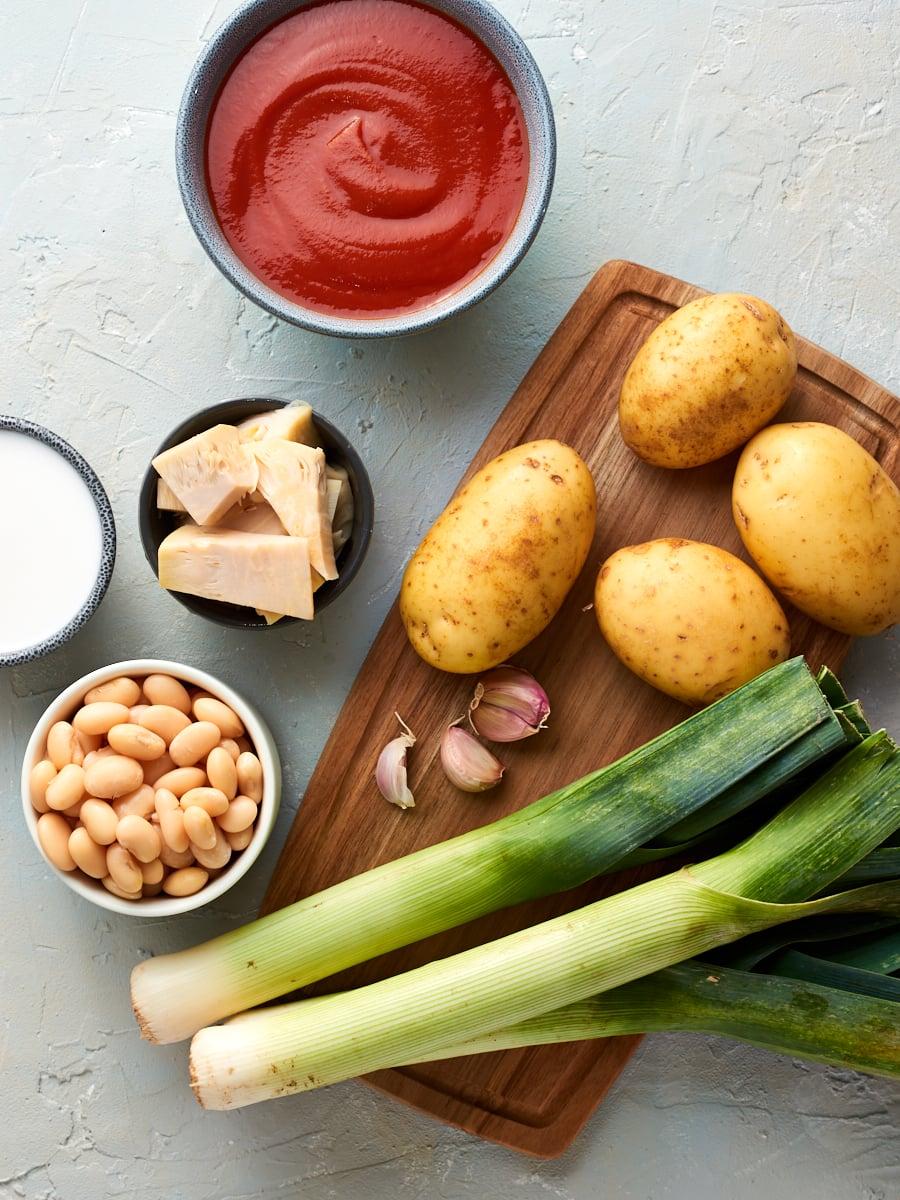 Ingredients for vegan pot pie