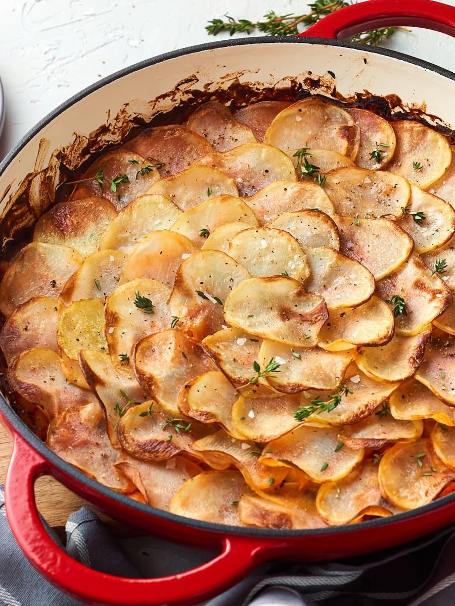 Crispy potato topped pie