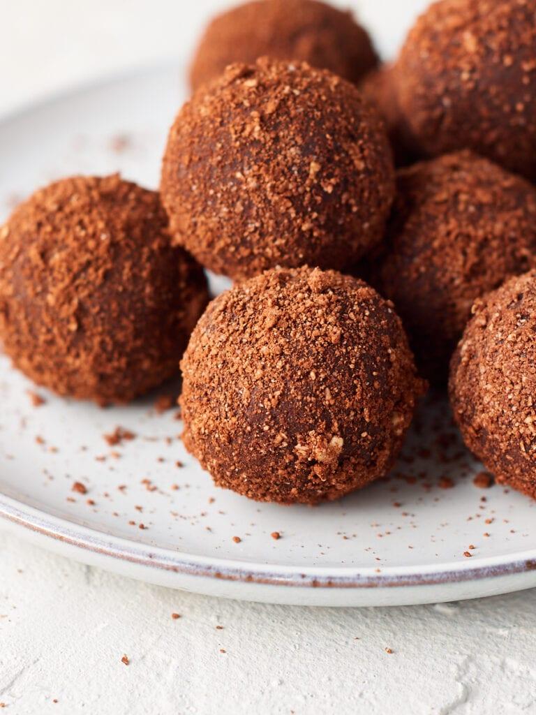 close up photo of peanut butter bliss balls