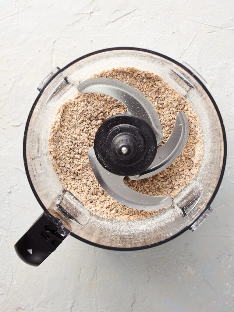oats and sunflower seeds processed