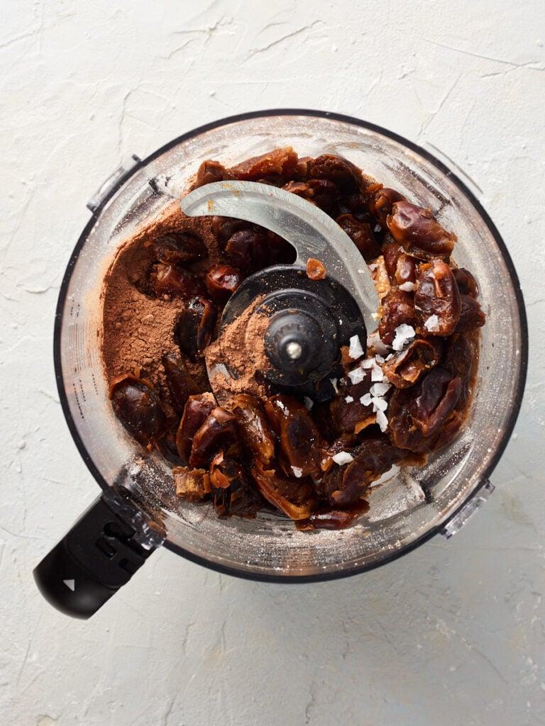 Added dates, cocoa powder, peanut butter vanilla and salt