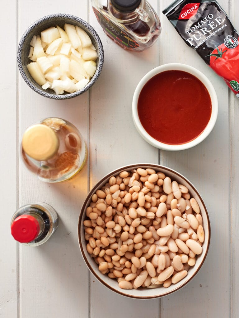 ingredients for homemade baked beans