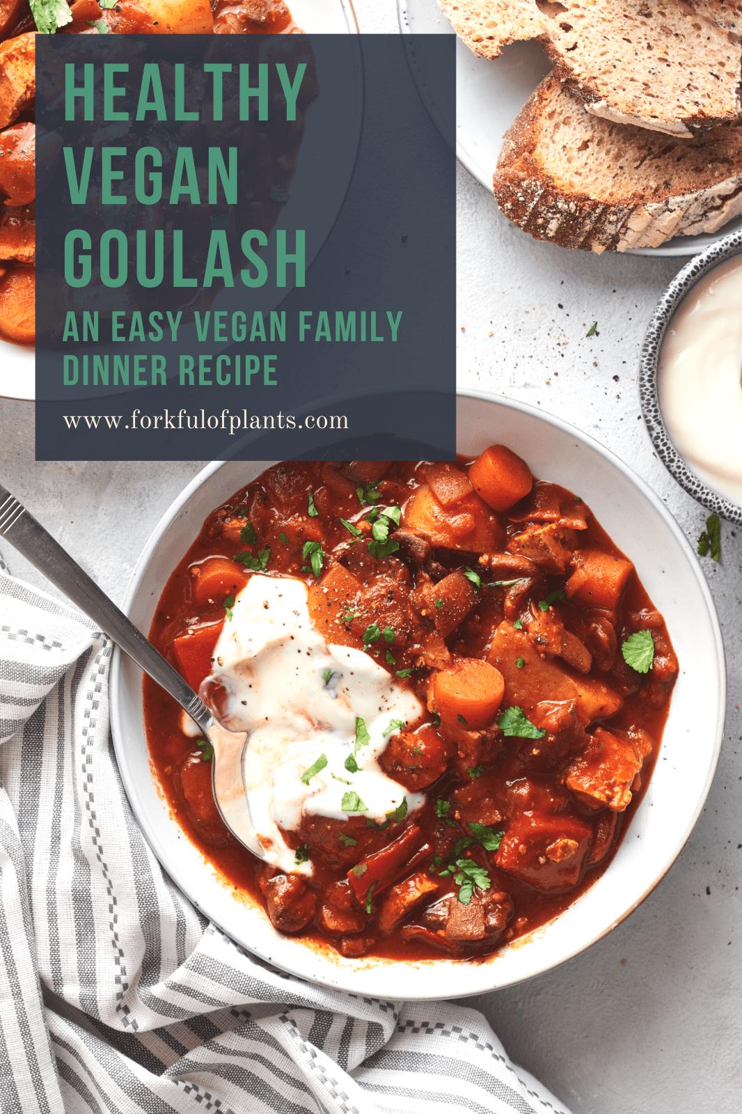 Healthy vegan goulash pin