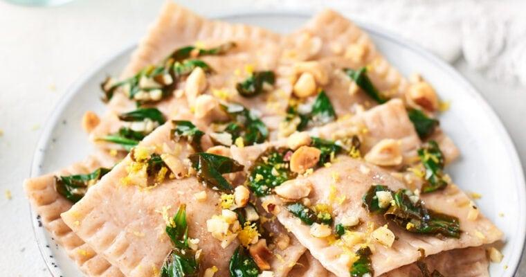 Vegan Butternut Squash Ravioli