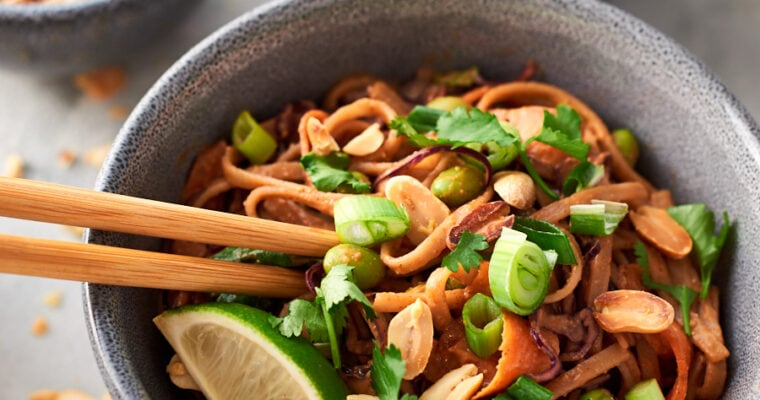 Thai Vegan Peanut Noodles