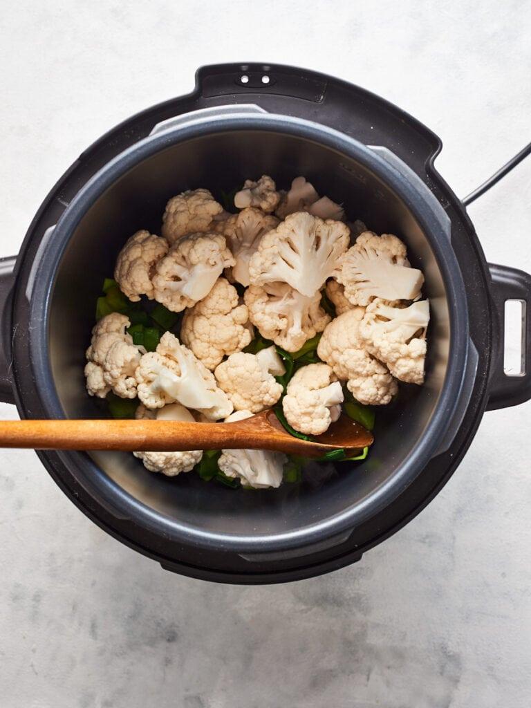 Adding cauliflower to instant pot