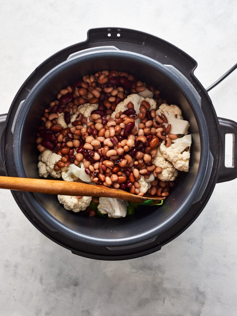 Adding beans to instant pot