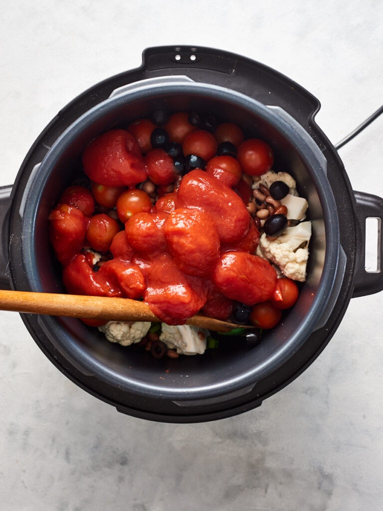 Adding canned and fresh tomatoes to instant pot