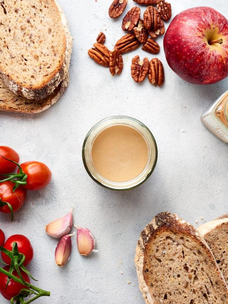 Ingredients for tahini toast