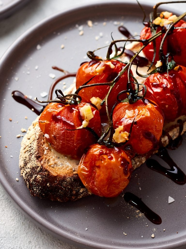 Tomatoes and tahini on toast 2
