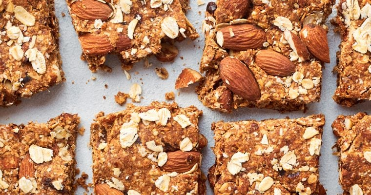 Healthy Muesli Slices with Almonds