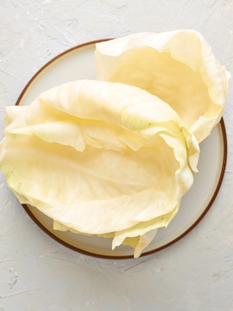 cabbage leaves on a plate