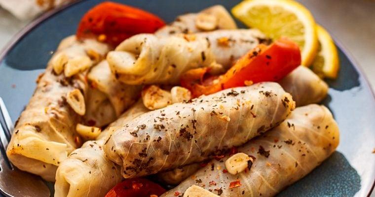Lebanese Cabbage Rolls (Meat-Free)