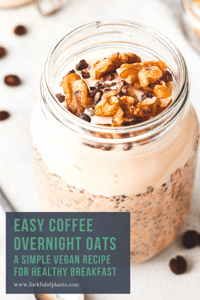 Easy coffee overnight oats pin