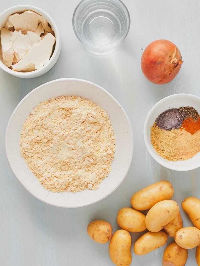 Ingredients for vegan tortilla