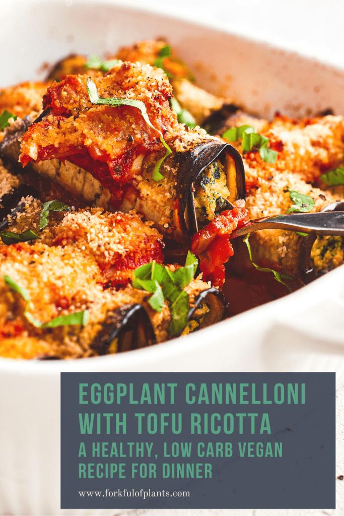 Vegan eggplant cannelloni pin