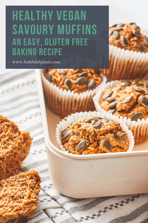 Vegan savoury muffins pin