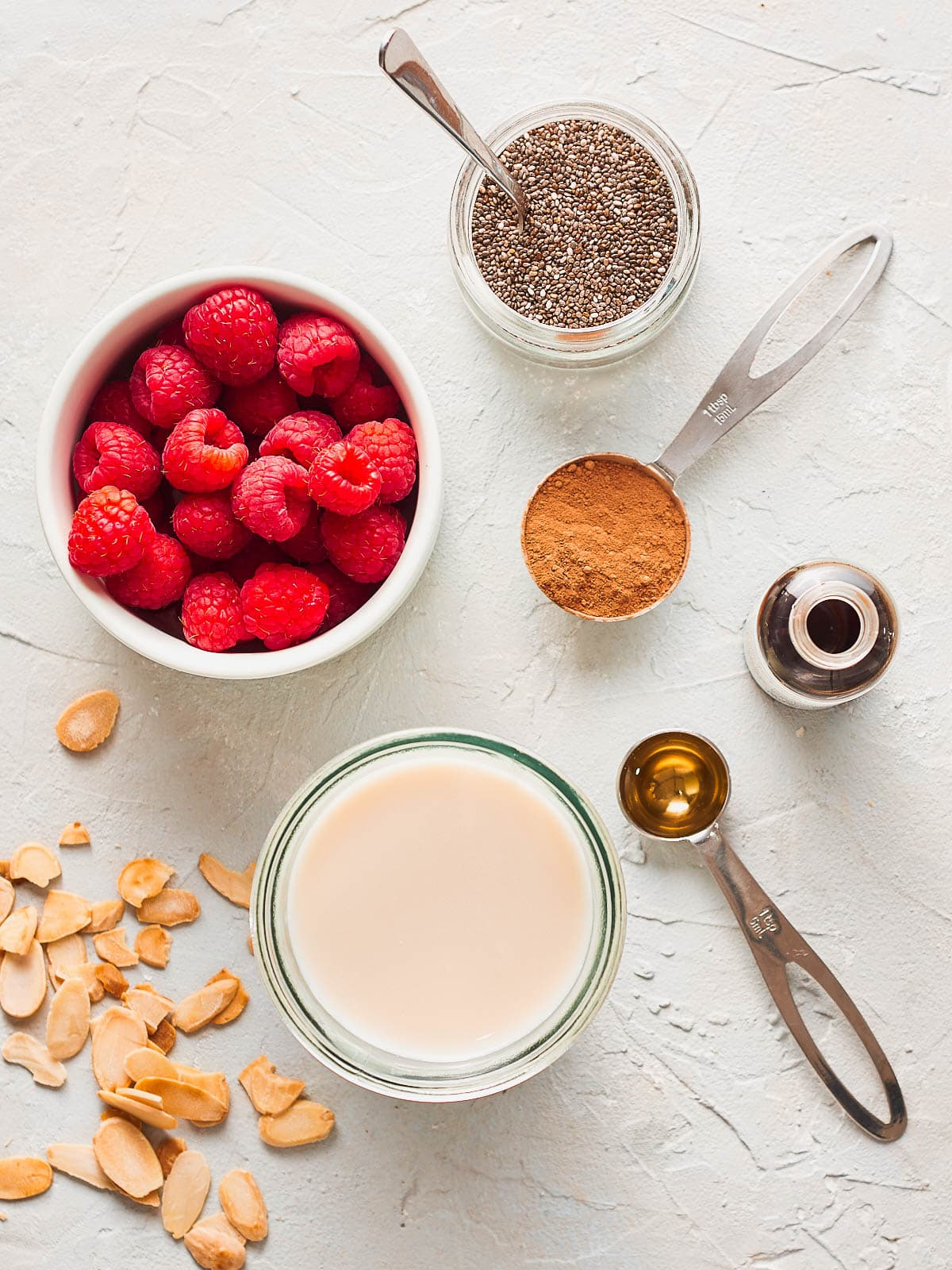 Ingredients for chia seed parfait