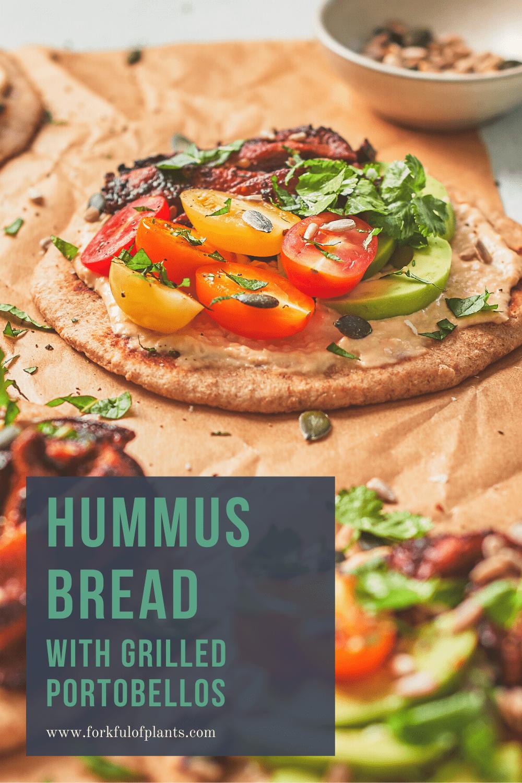 Hummus bread pin image