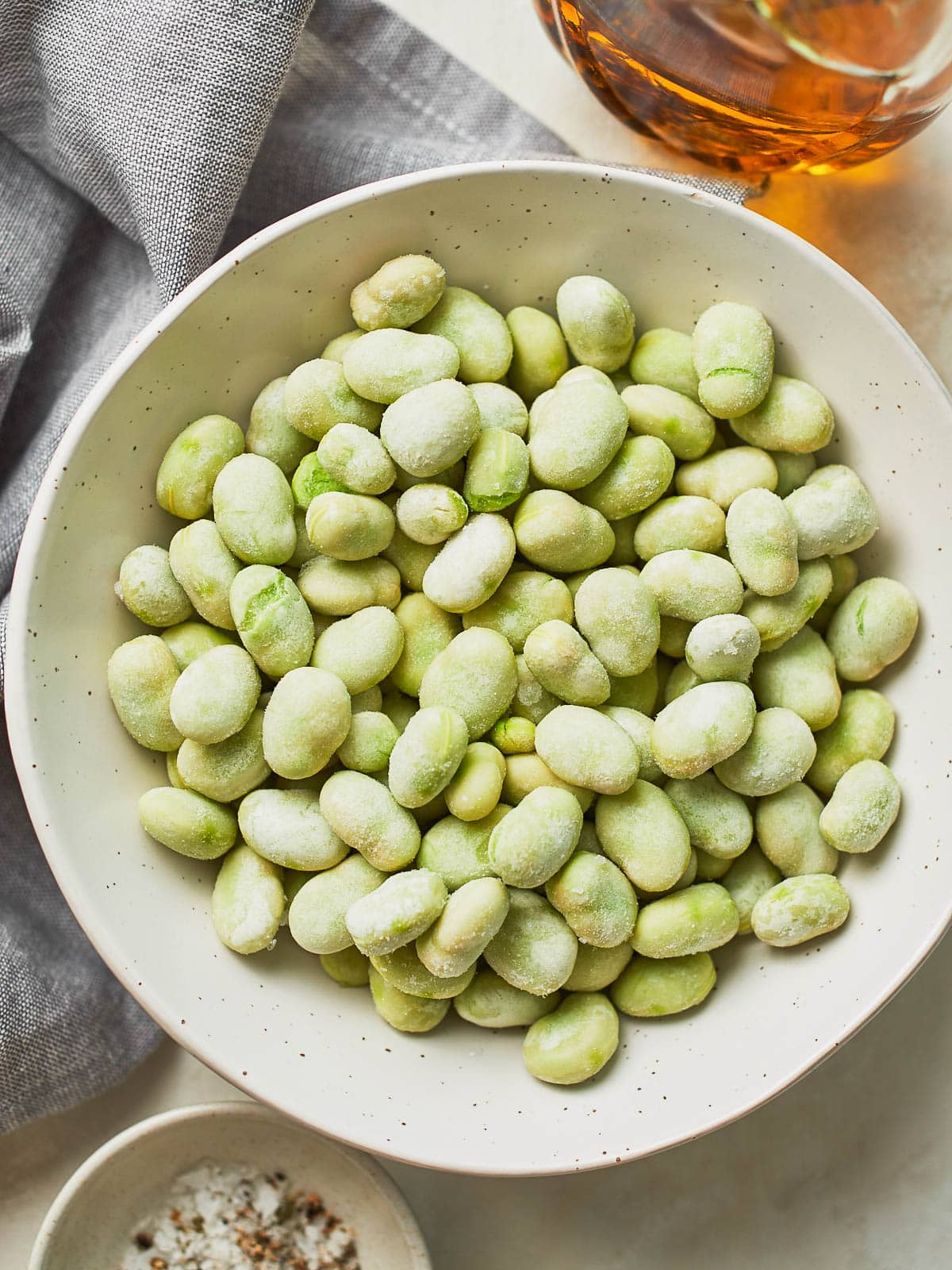 Ingredients for roasted fava beans