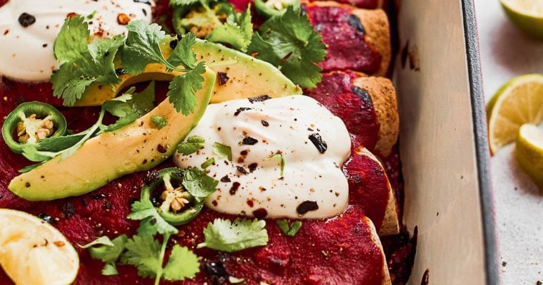 Vegan Jackfruit Enchiladas